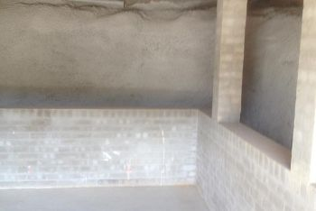 Shotcrete Subfloor Retaining Wall After